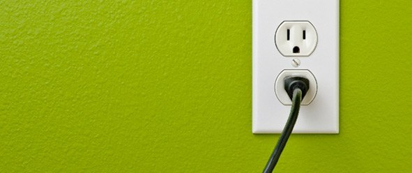outlet with plug