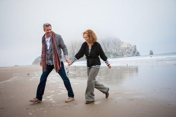 Older couple on the beach.