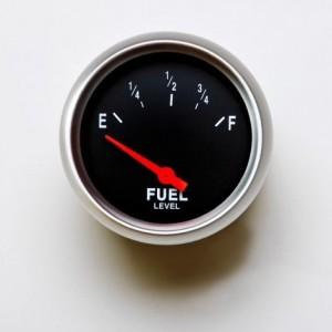 Empty fuel tank.