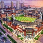 Artist's rendering of Clippers Stadium in Columbus, Ohio.