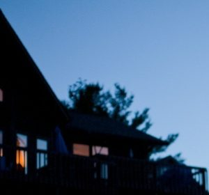 Home at dusk.