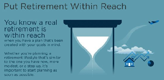Save for Retirement infographic header