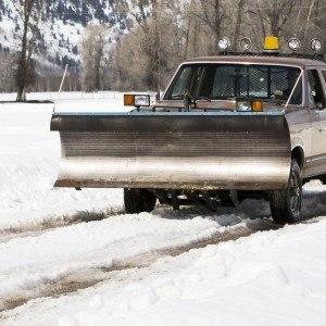 a snow plow truck