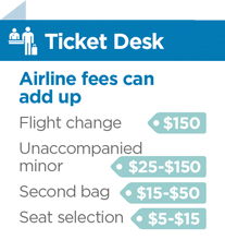 list of airline fees