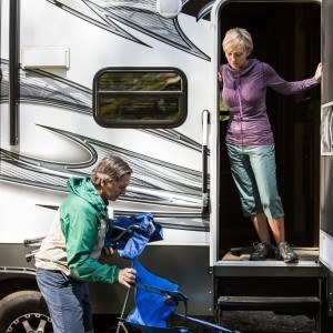 Couple with motorized RV
