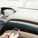 texting on a smartphone