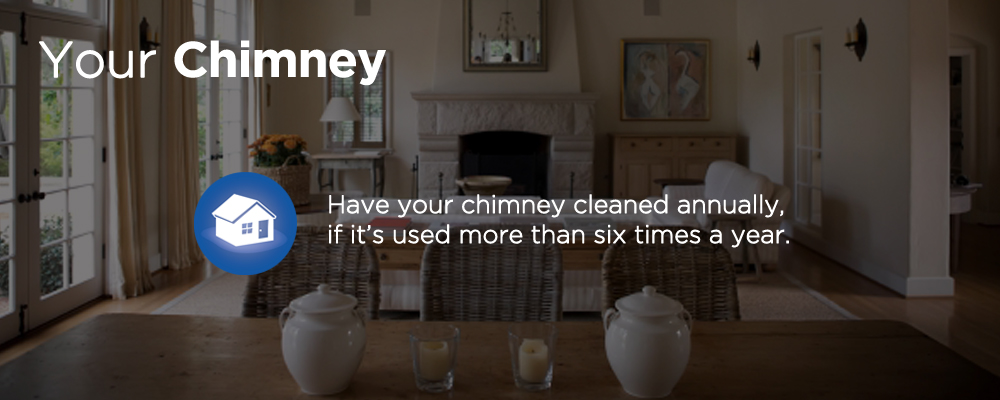 a living room with fireplace with text 'your chimney'