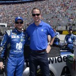 Taking to the Track with Superstars Dale Jr. and Peyton Manning