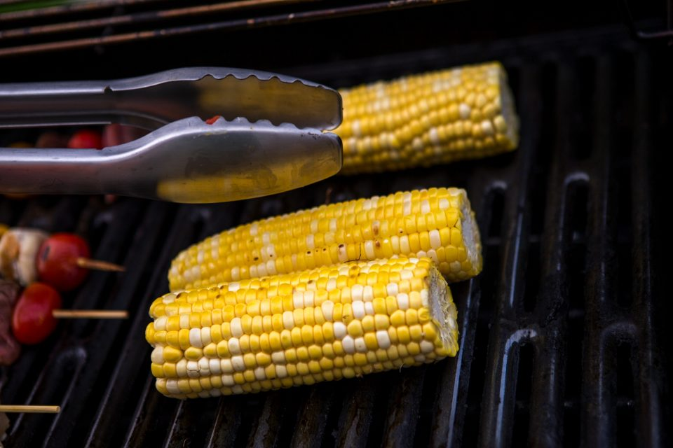 corn on a grill