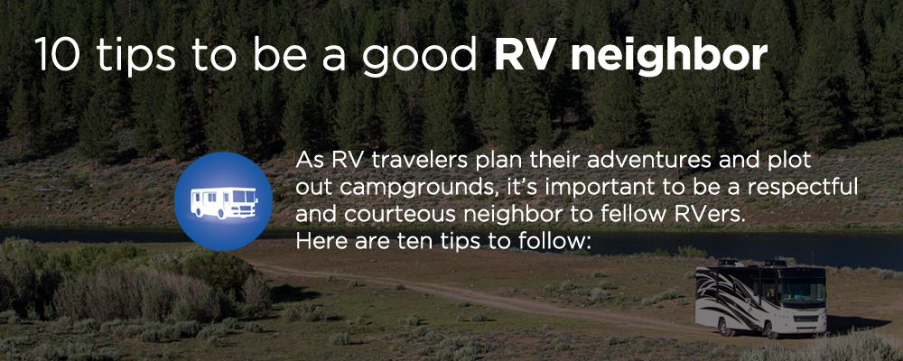 rv driving along a dirt road and forest