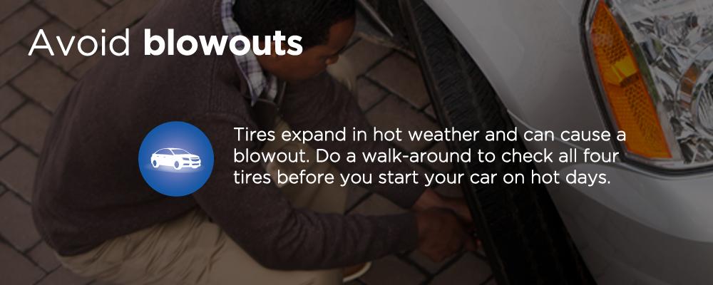 man checking car tire pressure