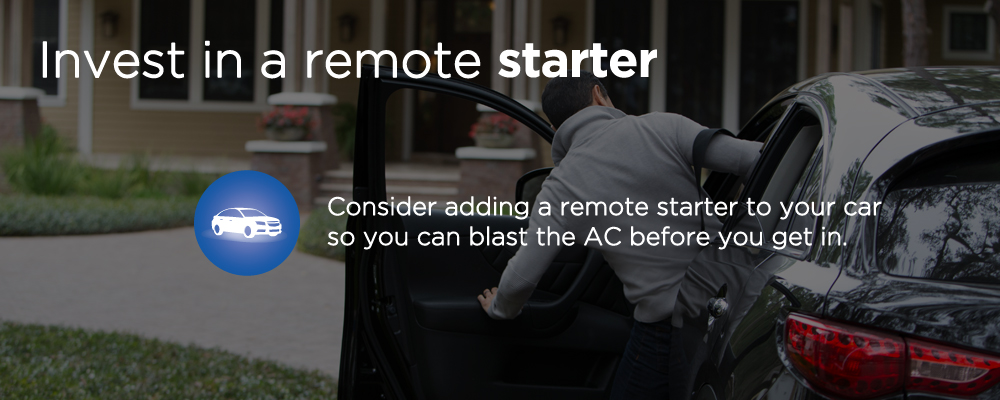 image with text 'invest in a remote starter'