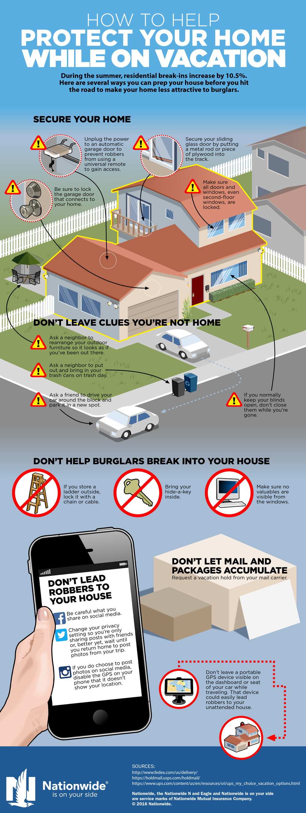 7 Ways to Protect Your Home While You're Away [Infographic]