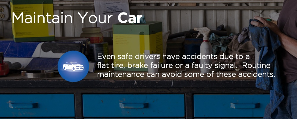 a counter with tools on top with text 'maintain your car'