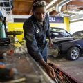 mechanic in body shop