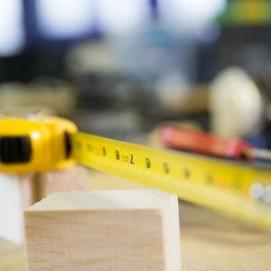 tape measure on workbench