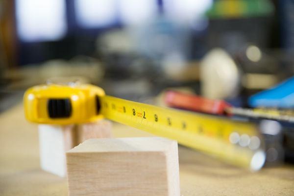 tape measure on workbench