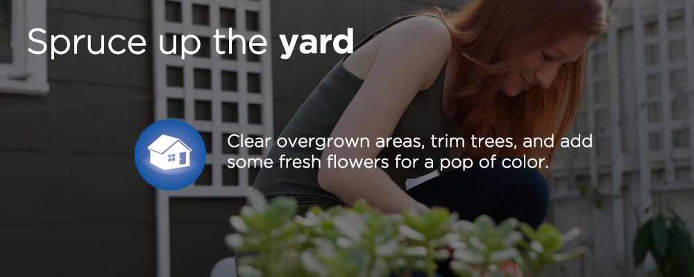 spruce up the yard