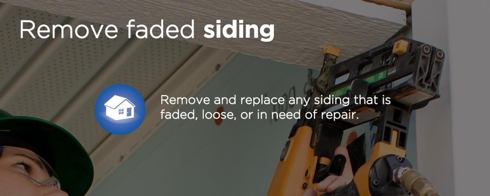 remove faded siding