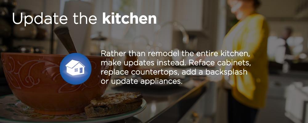 update the kitchen