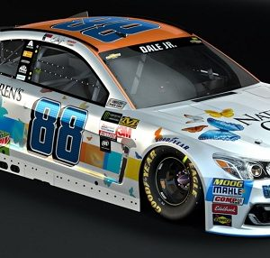 The Nationwide #88 race car