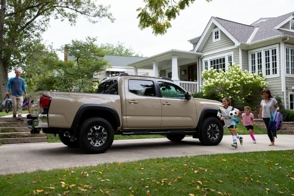 truck in an driveway