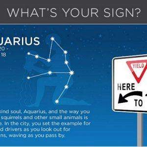 road sign horoscope