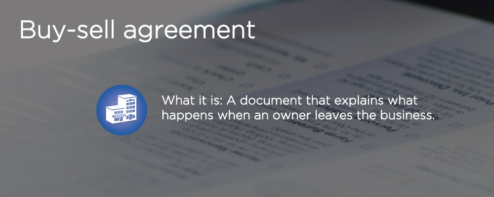 a document with text 'buy-sell agreement'