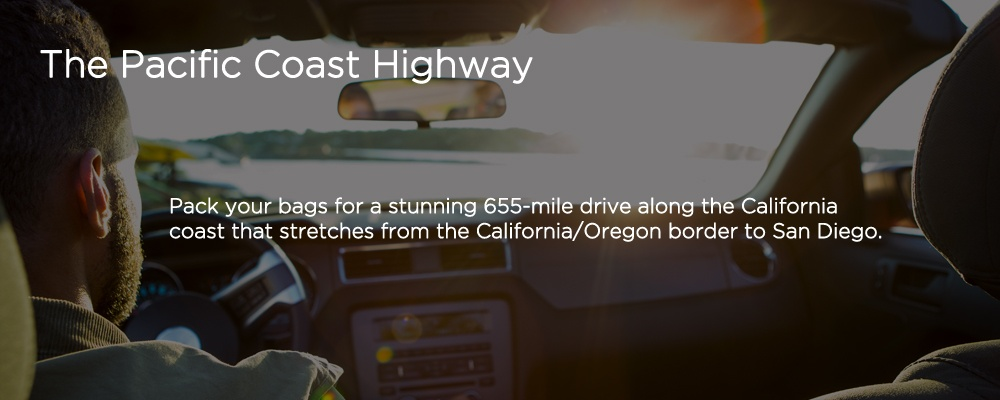 an image with text 'The Pacific Coast Highway'