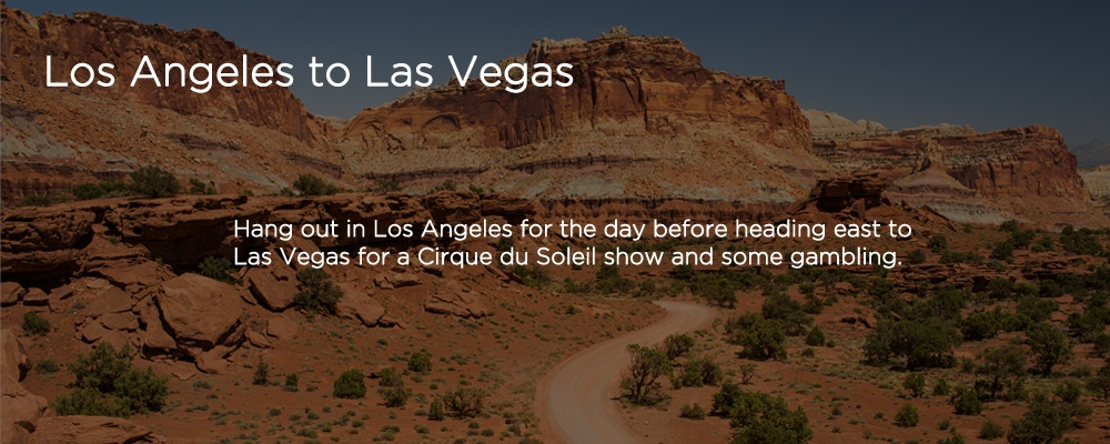 an image with text 'Los Angeles to Las Vegas'