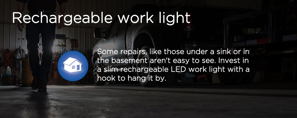 image of a light source in a garage