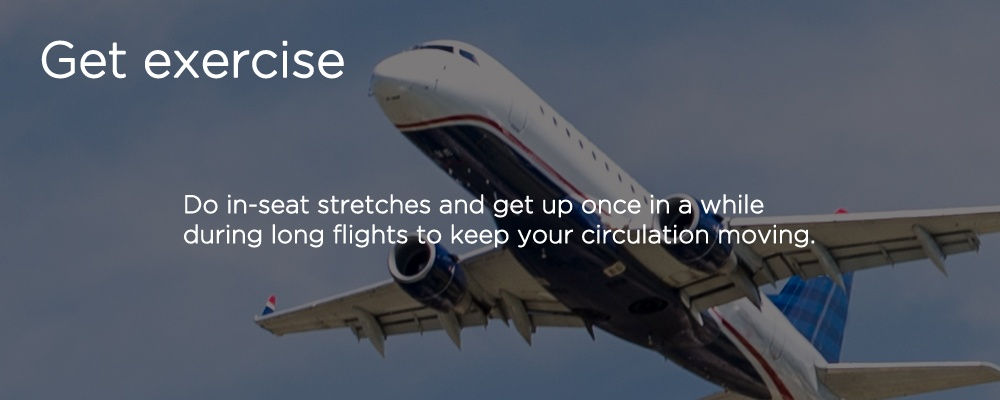 a airplane in the air with text 'get excericise'