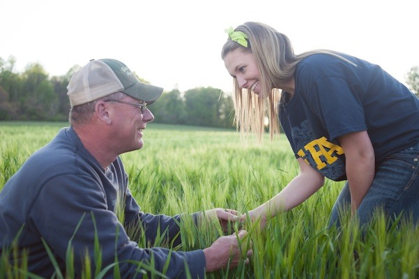 Agricultural educator and student