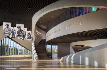 Interior of the National Veterans Memorial and Museum