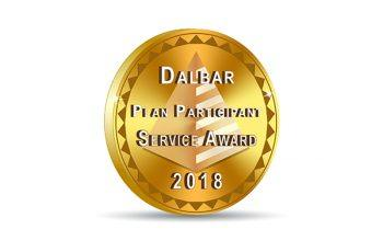 DALBAR Plan Participant Gold Award Badge