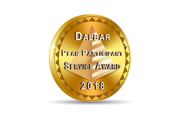 DALBAR Plan Participant Gold Award Badge