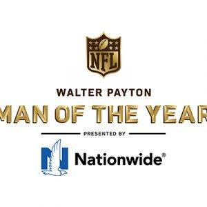 Walter Payton Man of the Year text with NFL and Nationwide logos