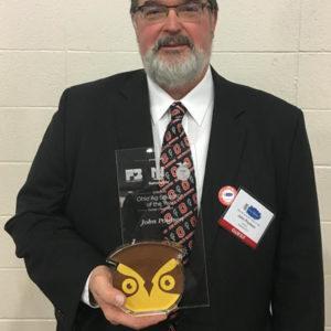 Golden Owl winner John Poulson