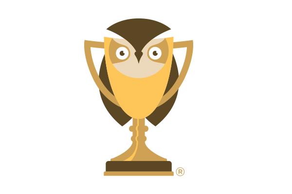 illustration of the golden owl award