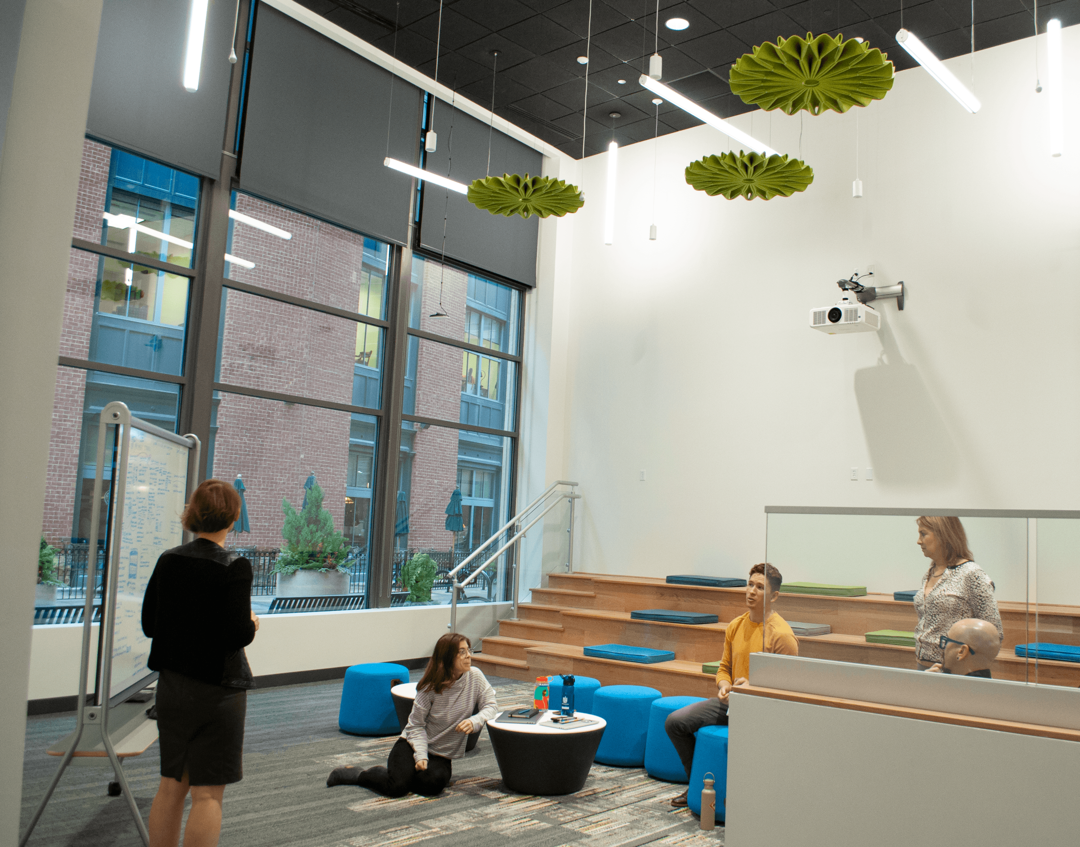 cooperative workspace with stadium seating