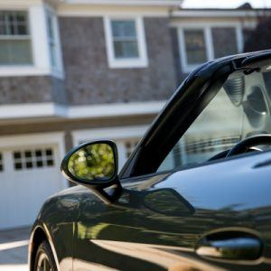 a black convertible car