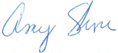 Amy Shore signature