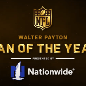 illustration of text 'Walter Payton man of the year'