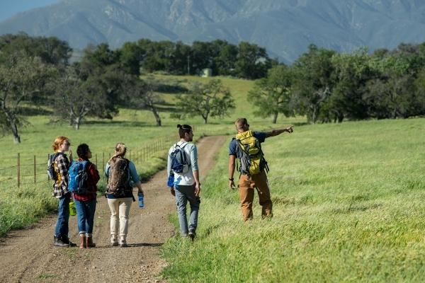people hiking outdoors