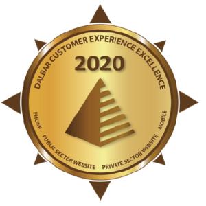 illustration of an award Dalbar Customer Experience Excellence 2020