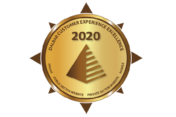 illustration of an award Dalbar Customer Experience Excellence 2020