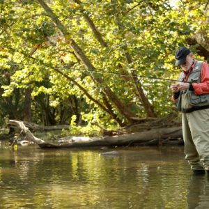 older man fishing