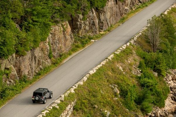 a jeep on a trail