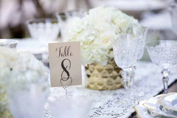 a table setting a wedding