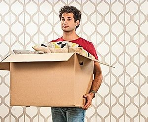 a man holding a box